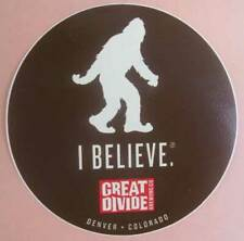I Believe 4 in. Beer Sticker Label Yeti Abominable Snowman Great Divide Colorado