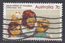 Australien Briefmarke gestempelt 7c Christmas 1972 Jesus friend children / 496