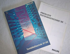 Philips Katalog Test & Meßtechnik 1987/1988 Messtechnik Catalog (DEUTSCH)