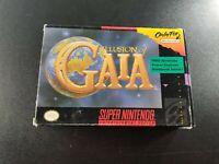 Illusion of Gaia (Super Nintendo Entertainment System, 1994) **IN BOX!