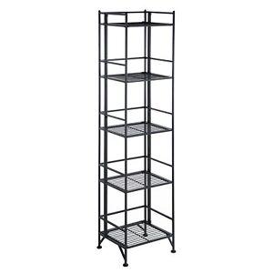 Convenience Concepts Xtra Storage 5 Tier Folding Metal Shelf
