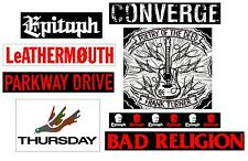 CONVERGE PARKWAY DRIVE BAD RELIGION THURSDAY RARE Stickers Lot! Punk Metal Rock