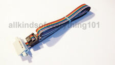 ** 10 WAY RAINBOW RIBBON CABLE WITH IDC MALE/FEMALE CONNECTORS - ½ METRE LONG **