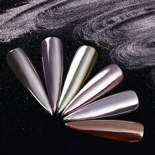 0.5g Mirror Nail Powder Dust Silver Shimmer Manicure Chrome Pigment Decor Tips