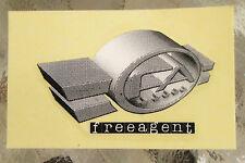 Stickers Bicycle 2001 to 2002 FreeAgent FA Free Agent BMX Sticker 1 1/2 x 2 1/2