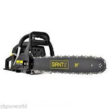 "66CC Commercial Petrol Chainsaw 24"" Bar E-Start Tree Pruner Cut Chain Saw Giantz"