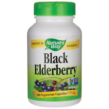 Nature's Way Black Elderberry 575 mg 100 Veg Caps