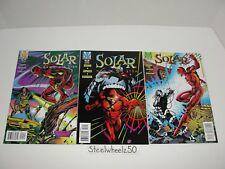 Solar Man Of The Atom #54 55 & 56 Comic Lot Valiant 1995 Dan Jurgens Lopresti