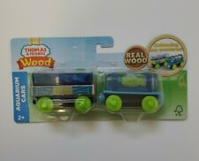 Thomas & Friends Wood Aquarium Train Cars with Sea Creatures - New!