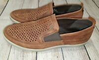Ecco Collin Mens Loafers Brown Leather Slip On US 11/11.5   EU 45