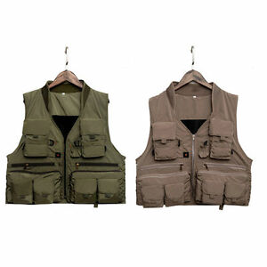 Fishing Vest Polyester Breathable Material Outdoor Photography Fishing Vest