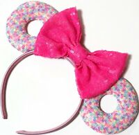 Doughnut Party Minnie Mouse Ears headband-handmade-Donut Disney World-HANDMADE
