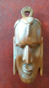 Hand Carved African Wood Mask Wall Hanging