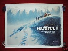 THE HATEFUL 8 EIGHT * 2015 ORIGINAL BRITISH QUAD MOVIE POSTER D/S TARANTINO RARE