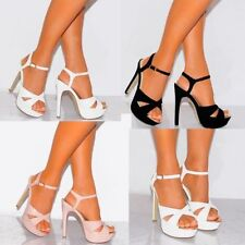 High (3 in. to 4.5 in.) Open Toe Stiletto Heels for Women