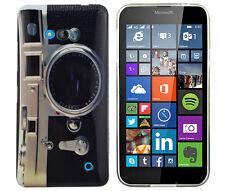 Hülle f Nokia Lumia 640 DUAL-SIM Schutzhülle Tasche Case Etui TPU Kamera retro