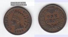 stampsdealer 1 Cent 1893 hübsch lovely LIBERTY gut lesbar und Federspitzen gut