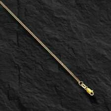 """10k Solid Gold Gourmette Curb Box Link 20"""" 1.5mm 2.8 gram pendant chain Necklace"""