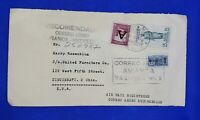 Colombia registered airmail cover from Correo Aereo Avianca-Medellin to Ohio USA