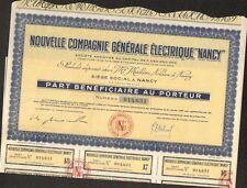 Nouvelle Compagnie Générale Electrique de NANCY (LORRAINE 54) (H)