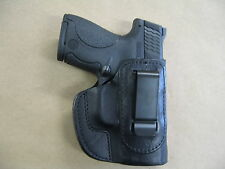 S&W Shield 9mm,.40,.45 IWB Leather In Waistband Concealed Carry Holster BLACK RH