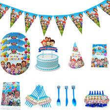Cocomelon Family Birthday Party Kids Supplies Tableware Decor Plate Tablecloth