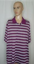 Men's George Size 2XL 50-52 Polo Golf Shirt Casual Work Clothes Striped