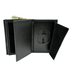 Perfect Fit Secret Service Uniform Division Badge Wallet Double ID Leather Small