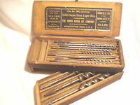 Vintage...Irwin.....Auger...Drill...Bits..& Wooden...Box..U.S.A.
