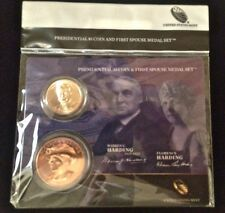 2014 WARREN & FLORENCE HARDING Presidential $1 COIN FIRST SPOUSE MEDAL SET