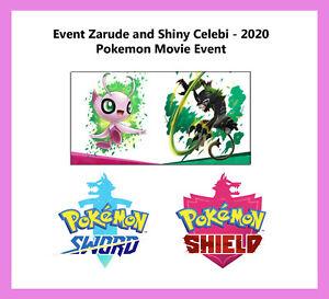 Pokemon Sword & Shield- Event Zarude and Shiny Celebi - 2020 Pokemon Movie Event