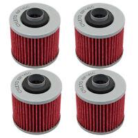 4pcs Oil Filter for YAMAHA TDM900 XT660Z XVS650 XT660X MT03 XVS1100 XV250 XT660