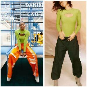 As Seen On Rapper SZA Adidas Originals Danielle Cathari Green Bodysuit Sz L NWT