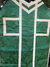 Chape Chasuble Liturgique Broderie Prêtre Aube Ancien 14