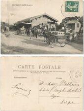CPA Tuja 1909 postcard charrette Ste PORT SAINTE MARIE 47 Lot et Garonne 349 R