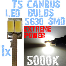 1x LED T5 5630 5000k Blanc Tableau de Bord Compteur Voiture Pratique 1A10.1 1A10