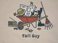 MENS LIFE IS GOOD L/S  JAKE FALL GUY  T--SHIRT SIZE  S