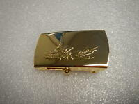 Sportfishing design Solid Brass Marine web Military style belt buckle NEW. Fish