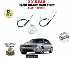 FOR JAGUAR X TYPE SALOON 2001->NEW 2X REAR LEFT + RIGHT BRAKE CABLE SET