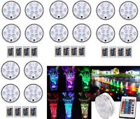 Lot Swimming Pool Light RGB LED Bulb Remote Control Underwater Color Vase Decor