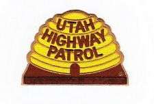 UTAH HIGHWAY PATROL - STATE POLICE EMBROIDERED SHOULDER PATCH - IRON-ON -- NEW