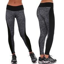 Women Sports Trousers Athletic Gym Fitness Yoga Leggings Pants GREY size M