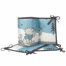 Disney Baby Forever Pooh Blue/White Bear 4-Piece Baby Crib Bumper by Lambs & Ivy