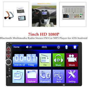 7'' HD 1080P Bluetooth Touch Car Stereo MP5 Player Radio Android IOS USB/AUX/TF