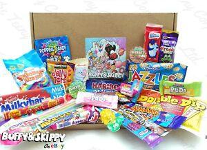 UK Retro Tuck Shop Mix Letterbox Gift Sweet Hamper Personalised Cadbury Haribo
