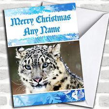 SNOW LEOPARD Natale Carta Personalizzati