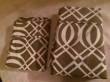 Twin Flat Sheet Brown & White Geometric with matching Pillowcase