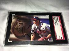 Greg Maddux Atlanta Braves 1996 Fleer Smooth Leather Signed Card SGC Authentic