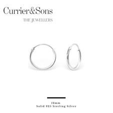 Beginnings Sterling Silver H041 Plain Hoop Earrings