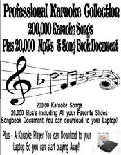 Karaoke Harddrive- 200,000 Songs, 20,000 Mp3's , Player & Printable Song List!